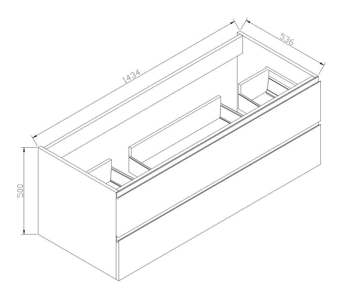 Badmöbel-Set LUXX 1440 - Zeichnung 1
