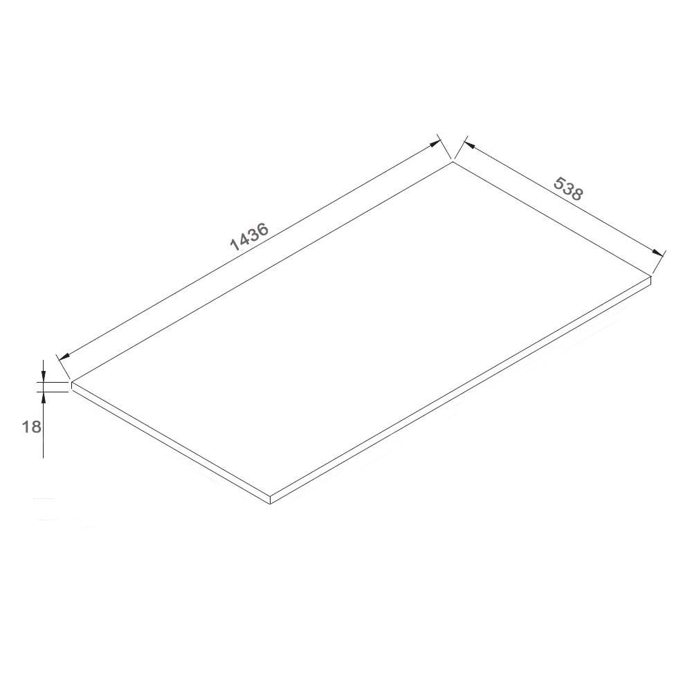 Badmöbel-Set LUXX 1440 - Zeichnung 2