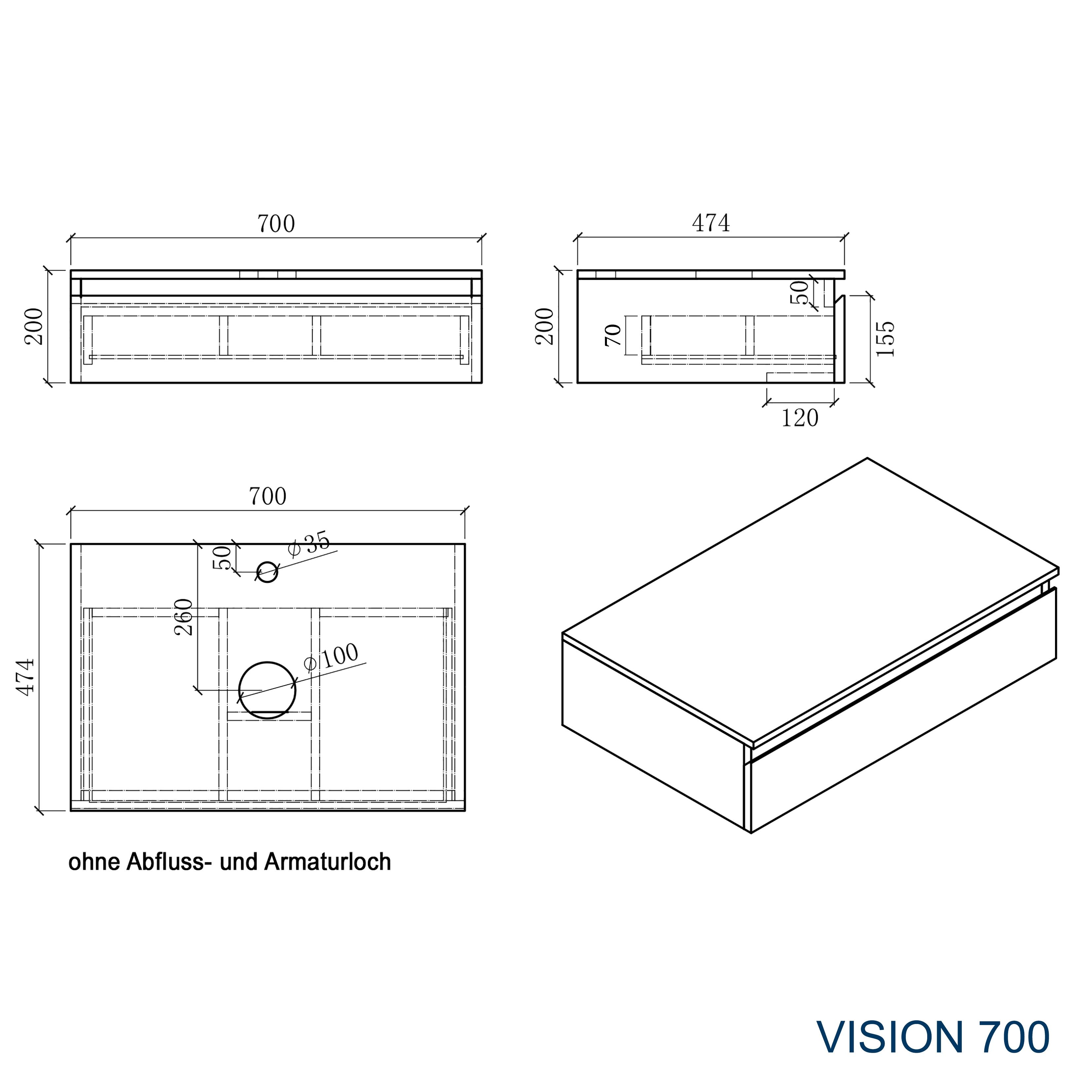 Vision 700 - Zeichnung