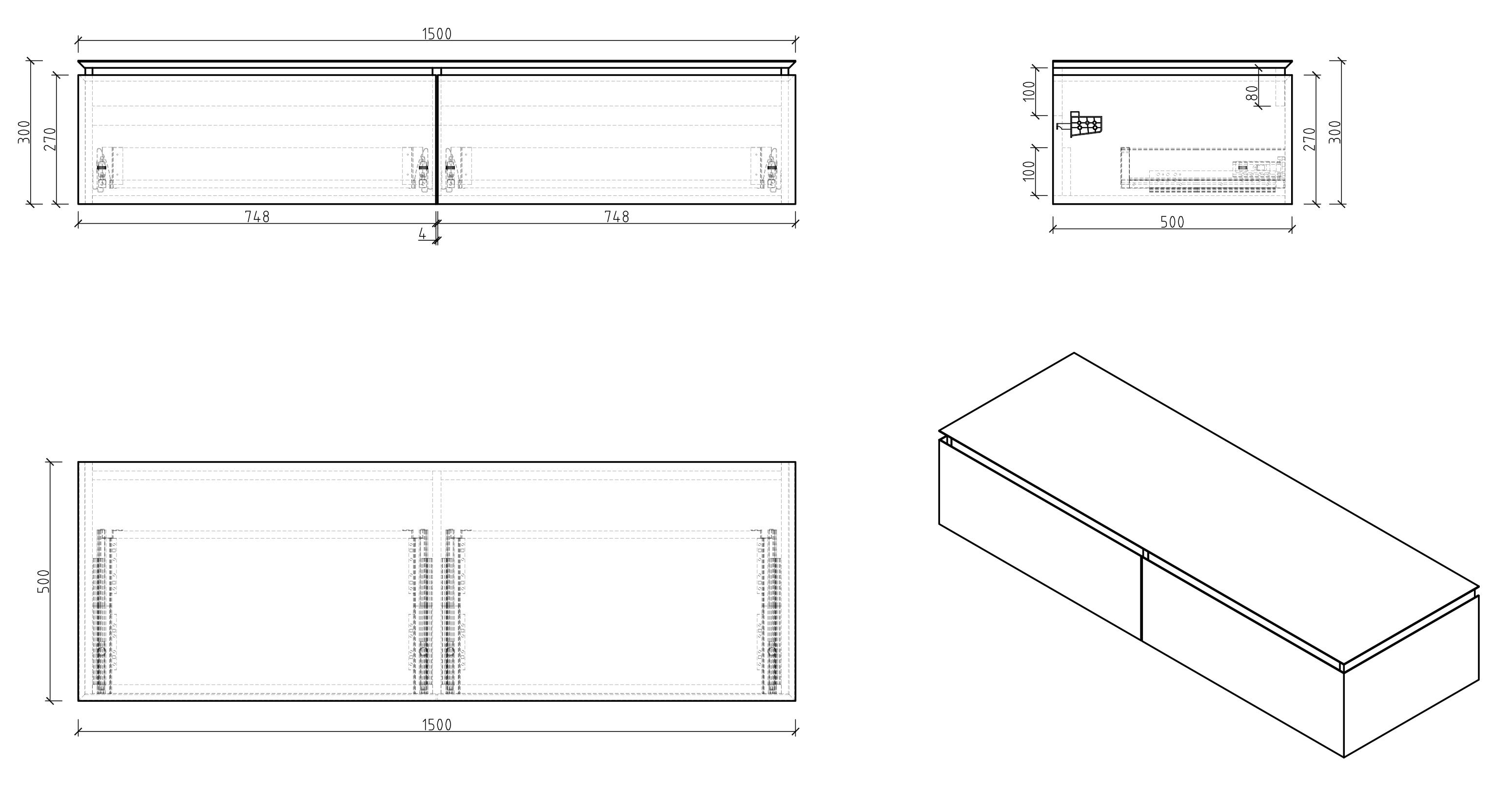 Spring 1500 Sideboard - Zeichnung