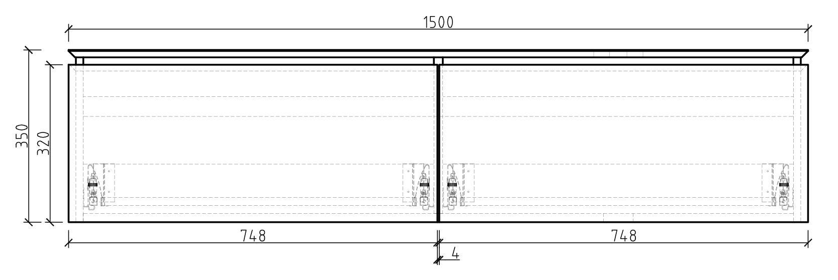 Spring 1500 Waschtisch-Unterschrank - Zeichnung 1
