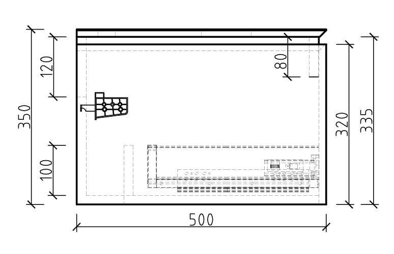 Spring 1500 Waschtisch-Unterschrank - Zeichnung 3