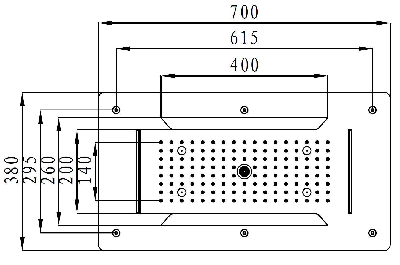 Ceiling shower head DPG5030 - Drawing 1