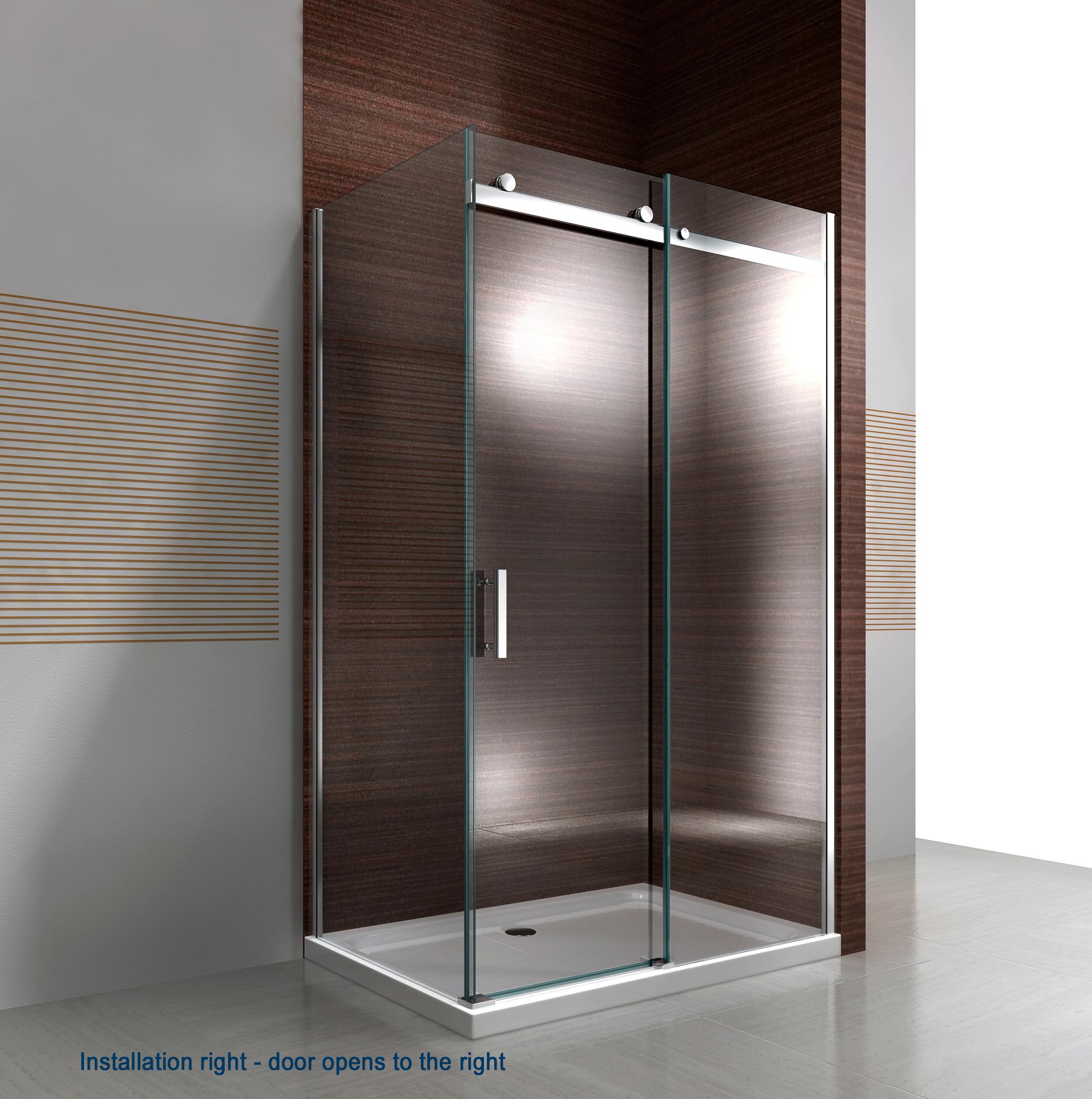 Shower enclosure EX806 - installation right