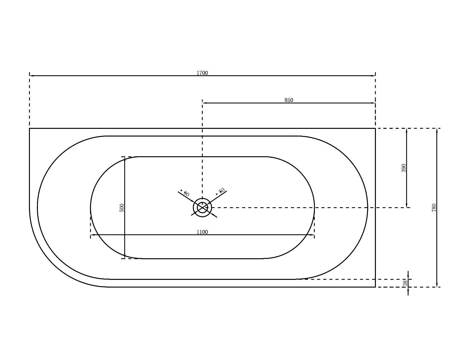 Freistehende Nova Corner - Zeichnung 1
