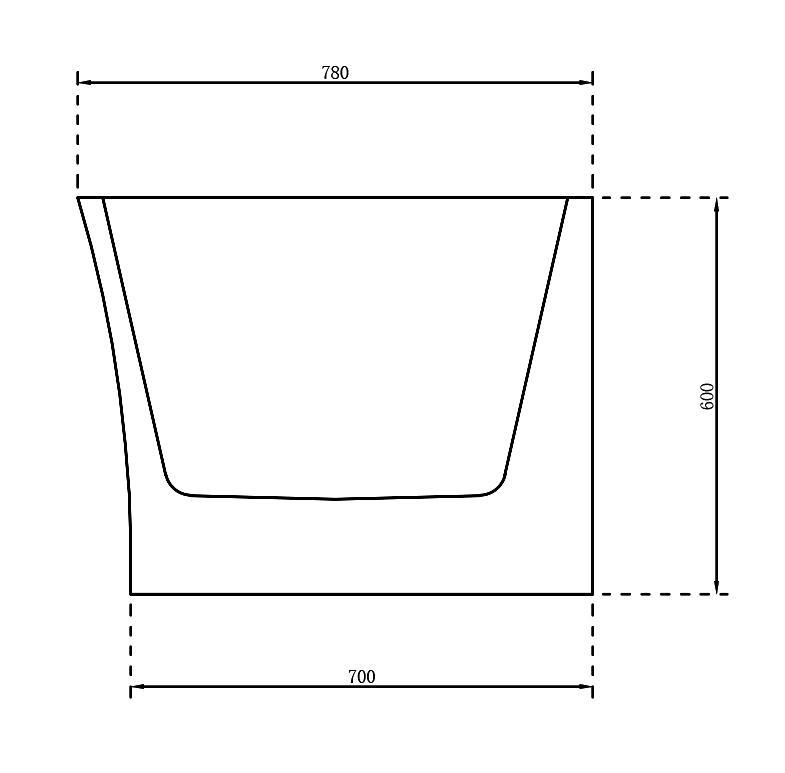 Freistehende Nova Corner - Zeichnung 3