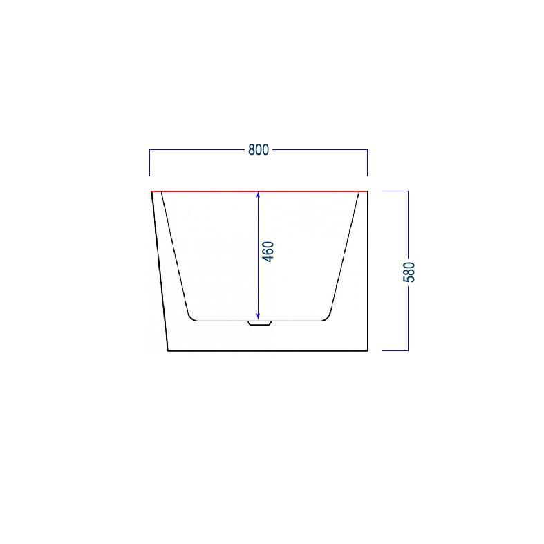 Freistehende Badewanne NOVA - Zeichnung 3
