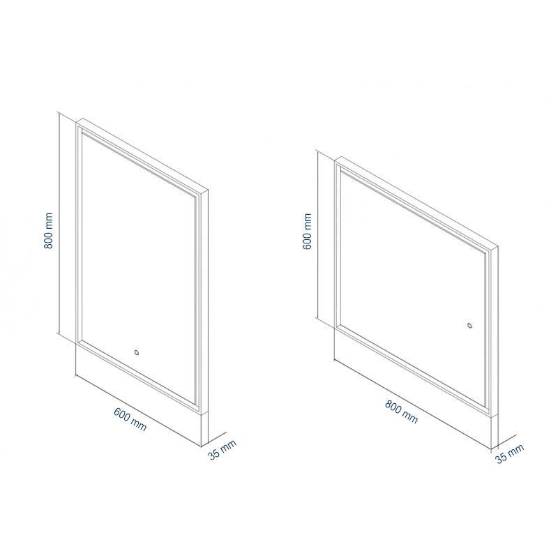 LED-Lichtspiegel 2115 60x80 - Zeichnung