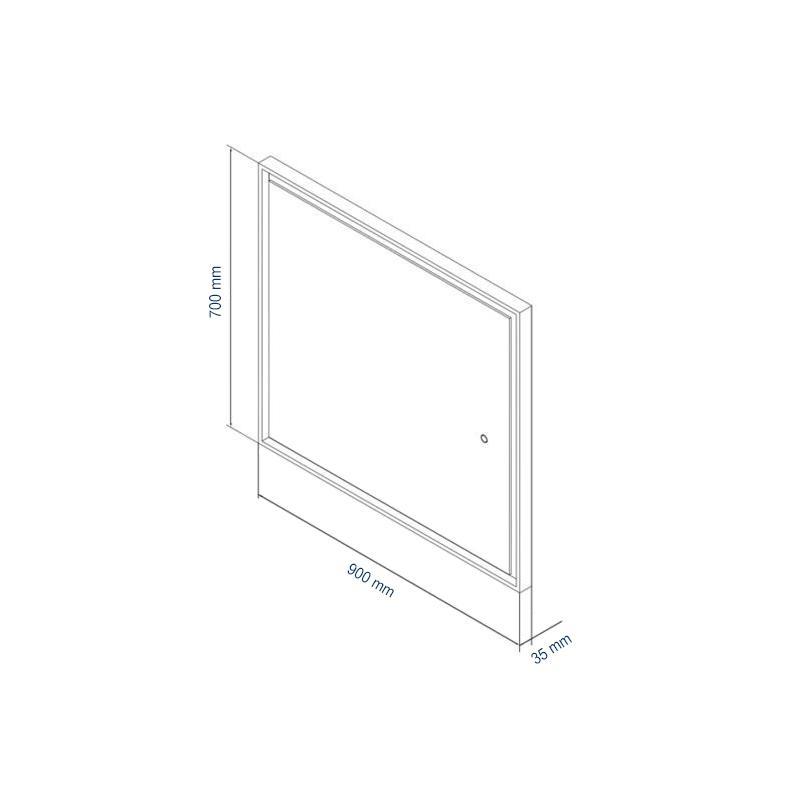 LED-Lichtspiegel 2115 70x90 - Zeichnung