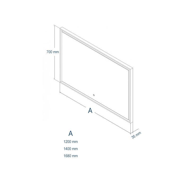 LED-Lichtspiegel 2115 - Zeichnung