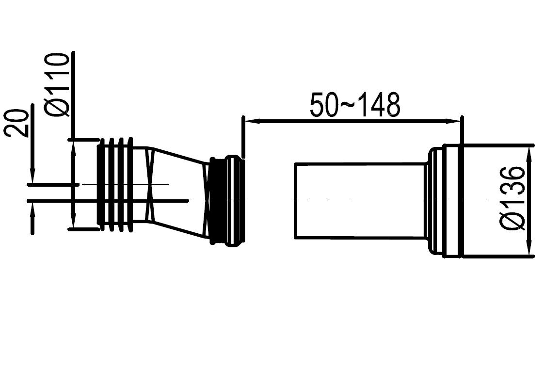 In-wall system 805 for wall-wc - Drawing 3