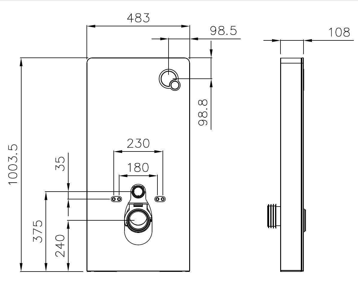 In-wall system 805 for wall-wc - Drawing 1