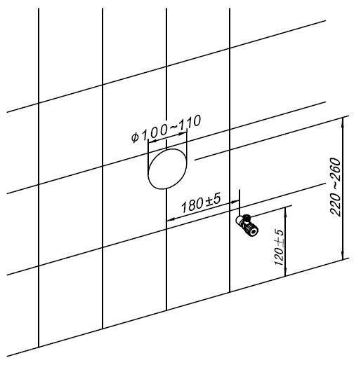 Sanitärmodul 805S für Wand-WC - Zeichnung 2