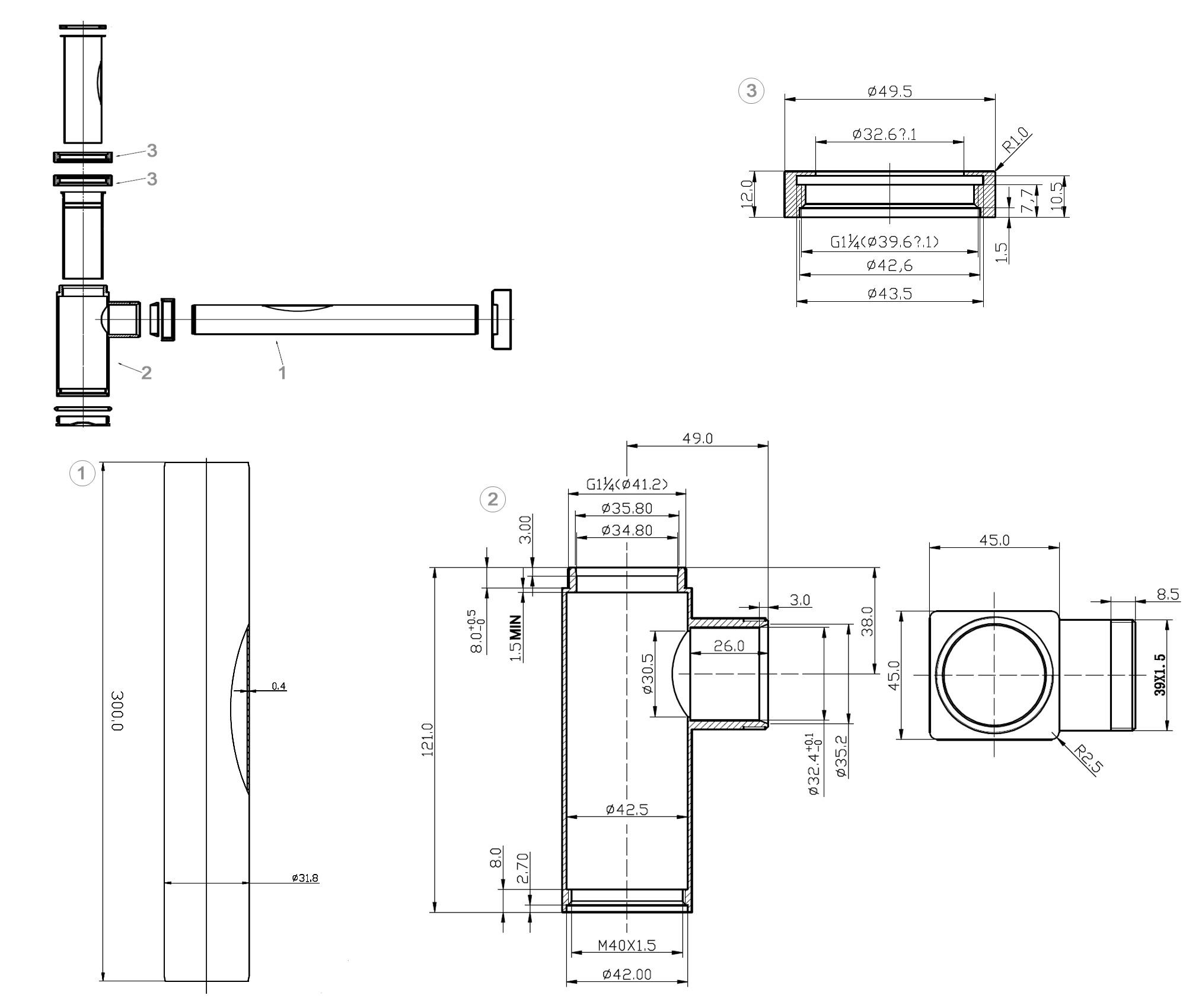Siphon 3060 - Zeichnung