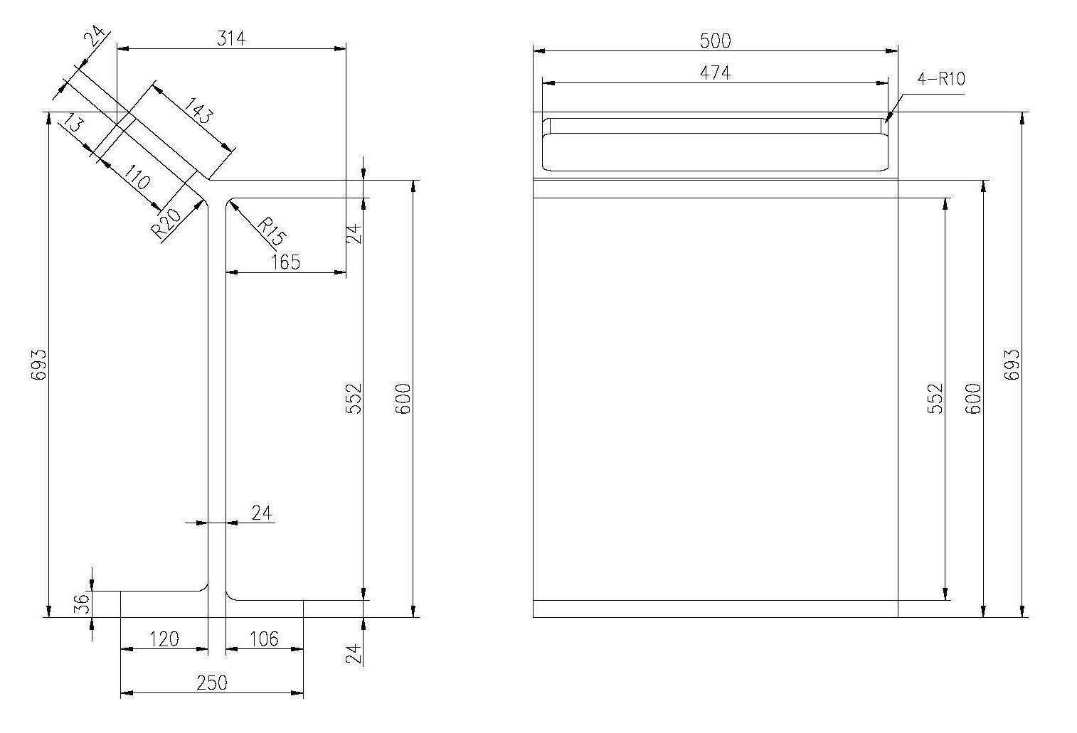Standregal PB4004 - Zeichnung 1