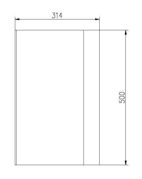 Standregal PB4004 - Zeichnung 2
