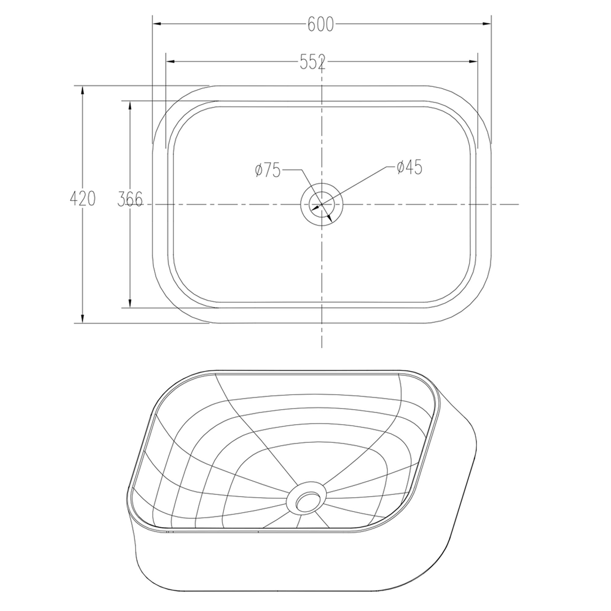 Countertop wash basin PB2161 - image 1