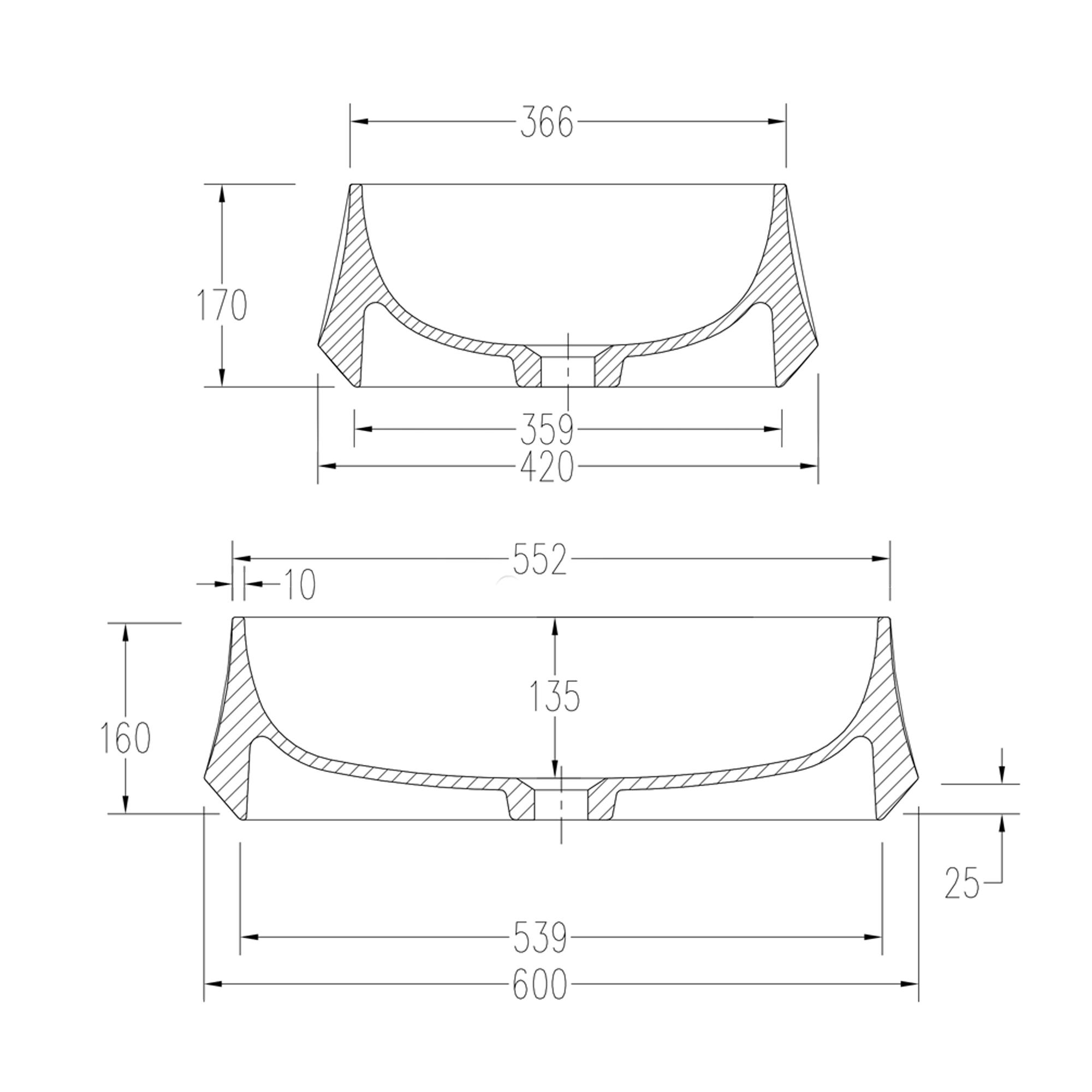 Countertop wash basin PB2161 - image 2