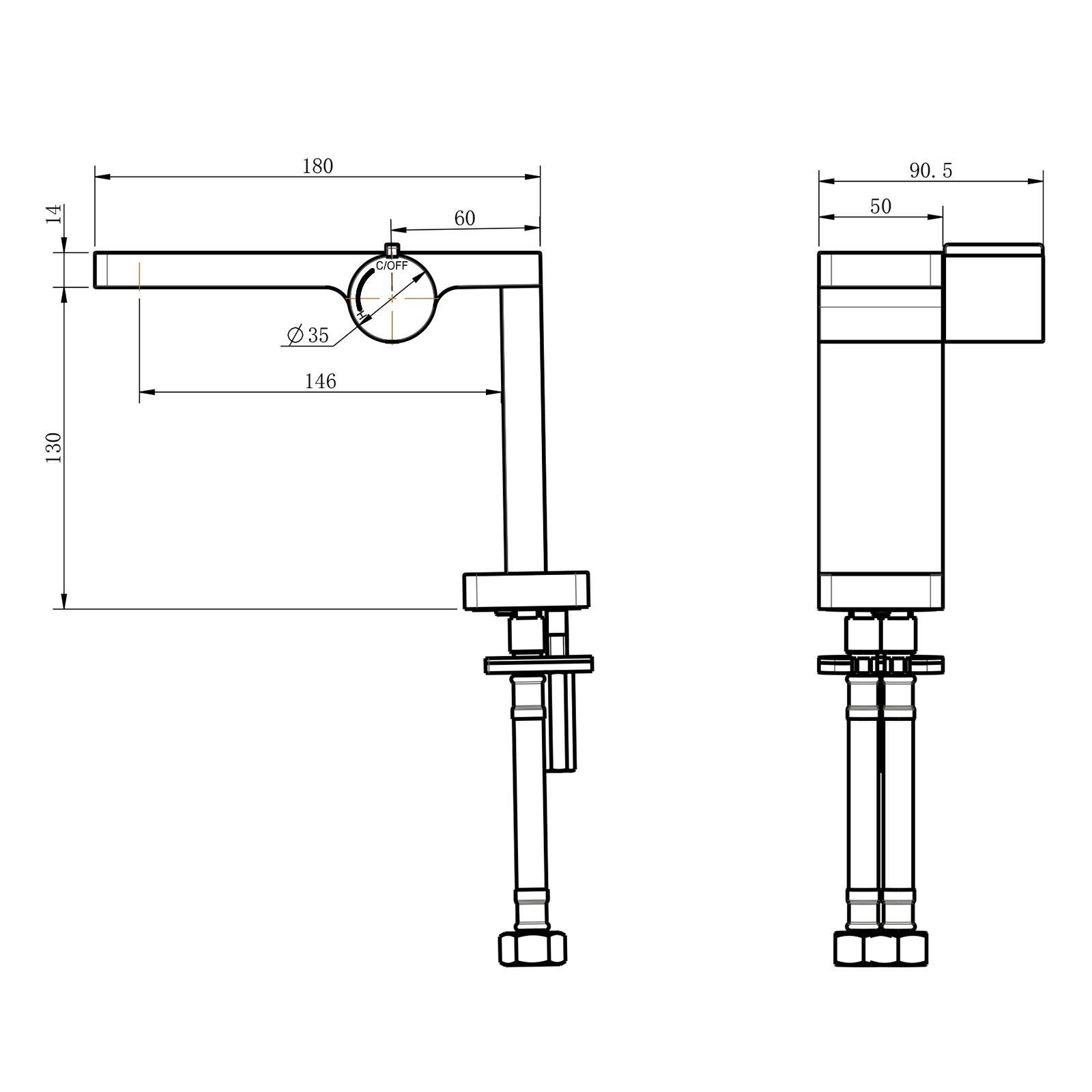Waschtischarmatur NT3110C - Zeichnung 1