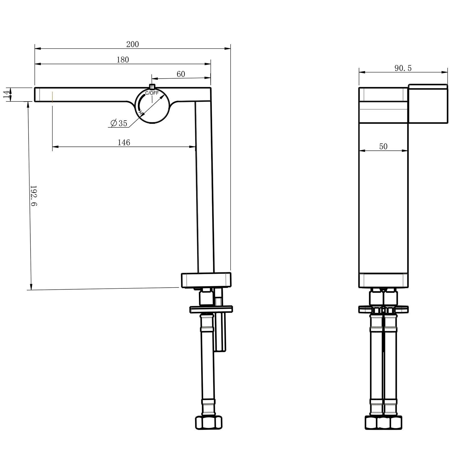 Waschtischarmatur NT3220C - Zeichnung 1