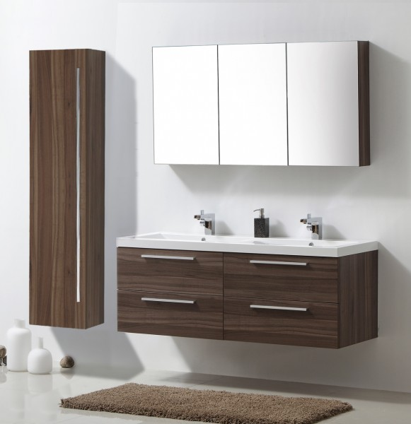 meuble de salle de bain r1442l armoire de toilette meuble mural lavabo et meuble sous noix. Black Bedroom Furniture Sets. Home Design Ideas