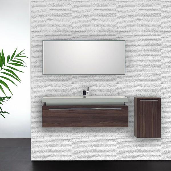 Ensemble de salle de bain n120r miroir lavabo meuble sous for Meuble mural avec miroir