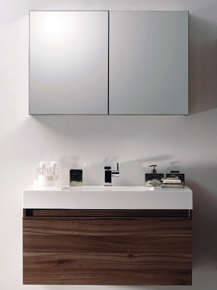 meuble de salle de bain a 1000 basic armoire toilette lavabo meuble sous vasque ebay. Black Bedroom Furniture Sets. Home Design Ideas
