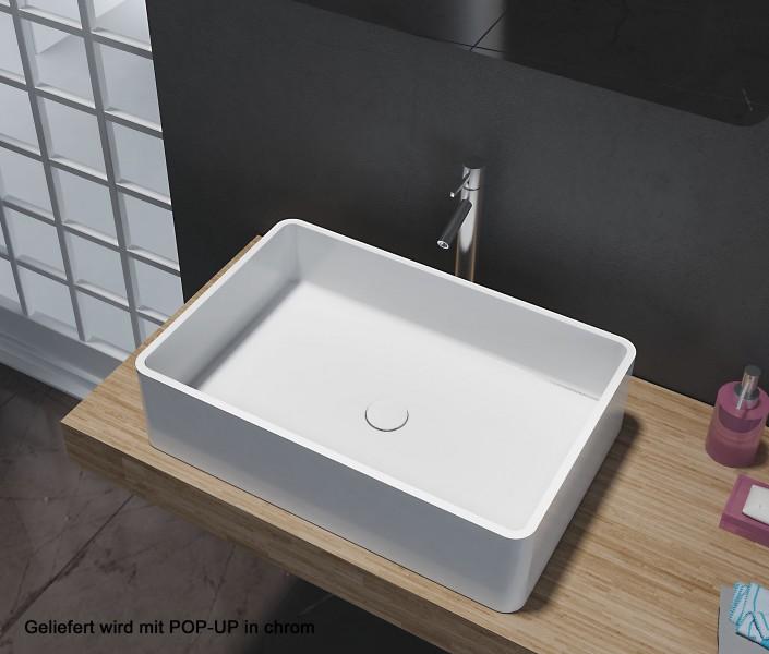 aufsatzbecken aufsatz waschbecken rechteck pb2012 design geradlinig 60 x 40 x 15 cm badewelt. Black Bedroom Furniture Sets. Home Design Ideas