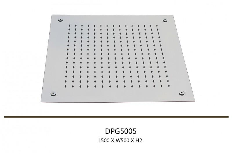 Regendusche Deckeneinbau : XXL-Regendusche Edelstahl-Deckenbrause DPG5005 superflach – 50 x 50 cm