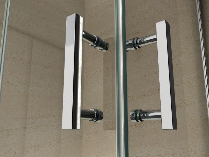 Dusche Eckeinstieg Faltt?r : Duschkabine Eckeinstieg Faltt?r Nano Echtglas 8 mm EX213 – 80 x 80 x