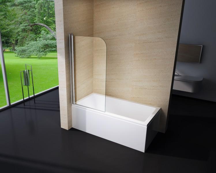 duschabtrennung duschwand badewanne nano echtglas ex201. Black Bedroom Furniture Sets. Home Design Ideas