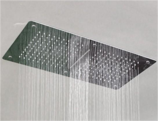 Regendusche Deckeneinbau : XXL-Regendusche Edelstahl-Duschkopf DPG5019 superflach – 70 x 38 cm