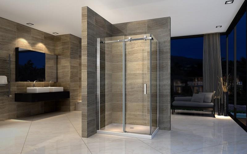 duschkabine duschabtrennung mit schiebet r nano echtglas. Black Bedroom Furniture Sets. Home Design Ideas