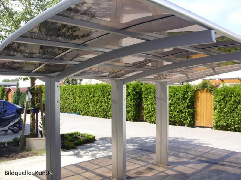 bernstein carport aluminium 5400 x 2700 x 2700 mm grau hohe traglast outdoor carport. Black Bedroom Furniture Sets. Home Design Ideas