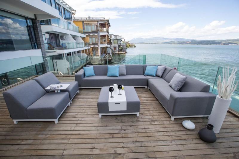 bernstein gartenlounge mittelelement einsitzer devane sunbrella textil flanelle 3757 outdoor. Black Bedroom Furniture Sets. Home Design Ideas