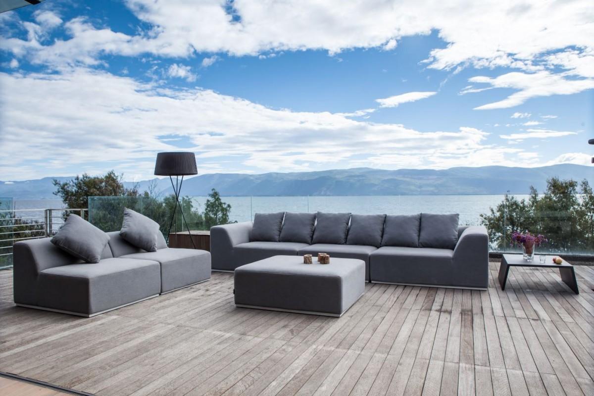 bernstein gartenlounge mittelelement einsitzer buddha sunbrella textil inkl 2 kissen. Black Bedroom Furniture Sets. Home Design Ideas