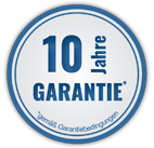 10 Jahre Garantie